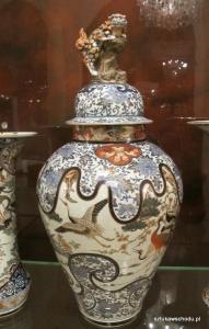 Waza japońska z motywem żurawi | fot. A. Gach