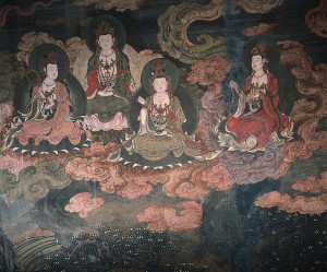 Fragment fresków z grot Mogao w Dunhuang, Źródło: Xuan Che via Foter.com / CC BY