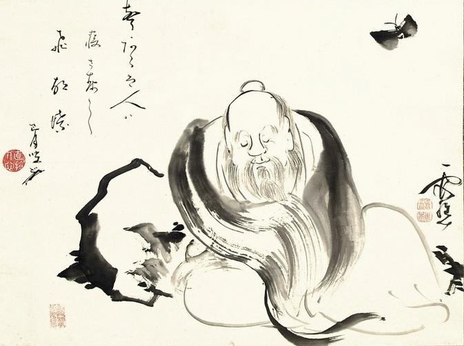 """Ike no Taiga """"Zhuangzi śniący o motylu"""""""