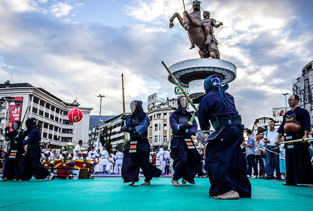 Pokaz kendo, Macedonia   Źródło: MLazarevski w Foter.com / CC BY-ND